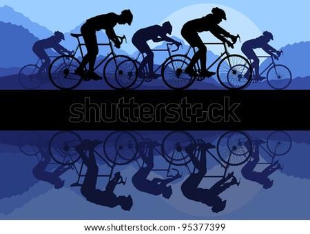 sport road bike riders bicycles