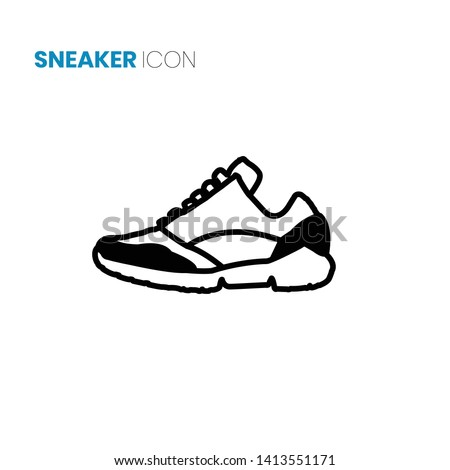 sport shoe icon vector on white