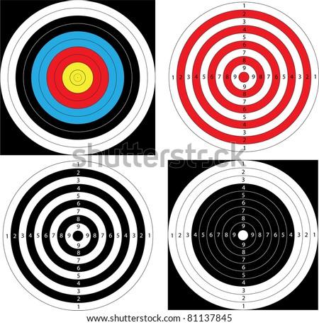 Sport shooting Target (archery, shooting). Vector.