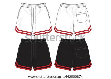 sport shorts design template , Basketball Shorts , Fashion Shorts Сток-фото ©
