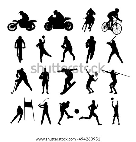 sport silhouettes set of