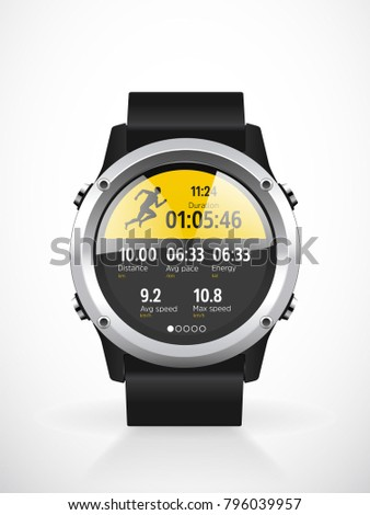Sport smartwatch for runners - mobile application