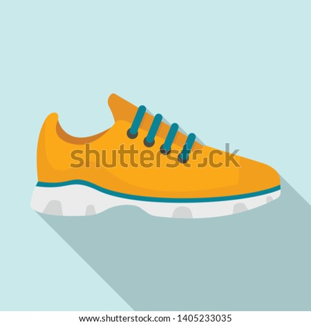 Sport sneakers icon. Flat illustration of sport sneakers vector icon for web design