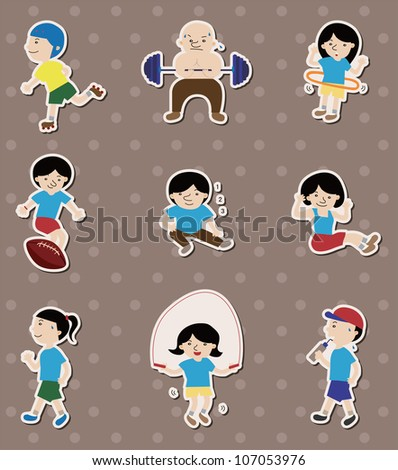 sport stickers - stock vector