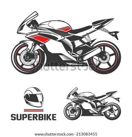 sport superbike motorcycle with