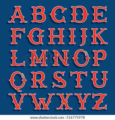 sport team classic style font