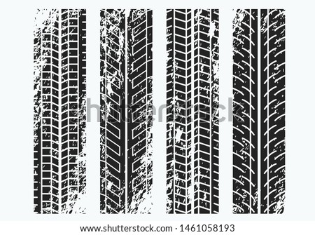 Sport Tires Mark Vector Grunge