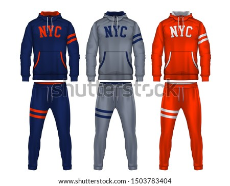 sport track suit design template,jacket and trousers vector illustration, Stock photo ©