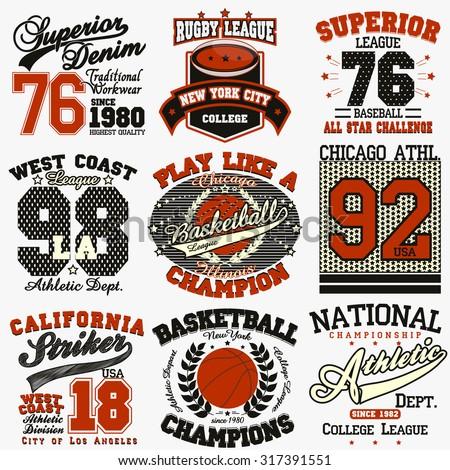 sport typography graphics logo