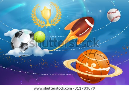 sport universe  vector