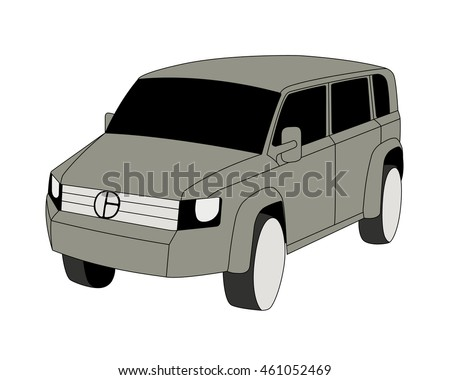 sport utility vehicle grey