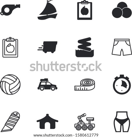 sport vector icon set such as: motor, research, capsule, clock, sailing, target, active, interval, parcel, order, instruments, antenna, idea, recreation, judge, delivery, red, meter, school, blue
