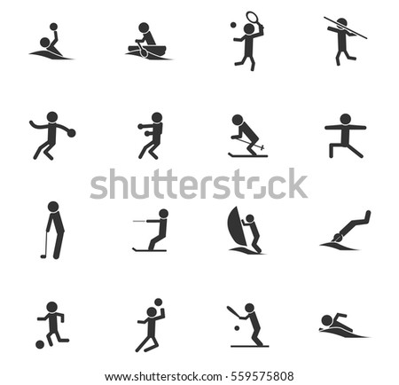 sport vector icons for user interface design