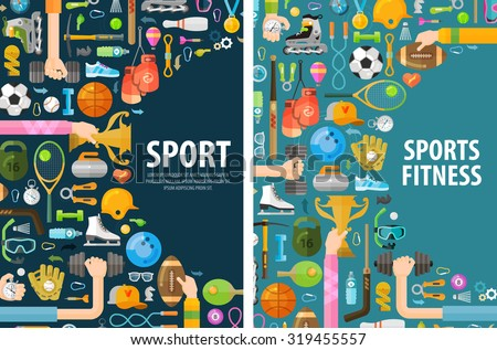 sport vector logo design template. gymnastics or fitness icons