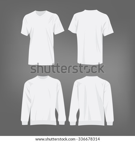 sport white t shirt and sweater