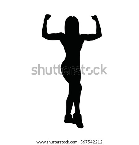 sport woman  isolated on white