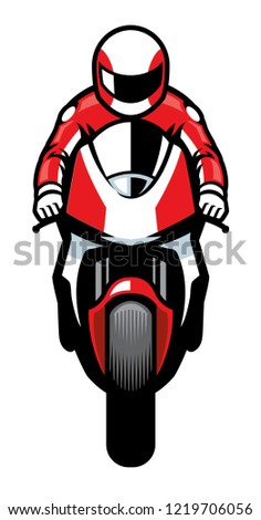 sportbike riding toward to