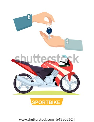 sportbike with hands and