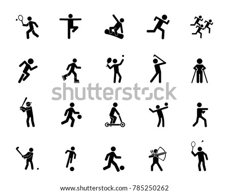 Sports activity icon set