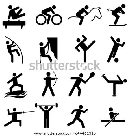 Sports and athletics icon set