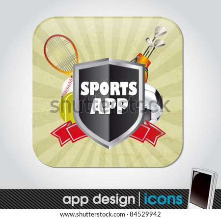 sports app icon for mobile devices