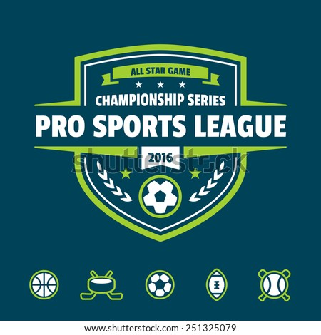 Sports athletic league event badge graphic logo emblem
