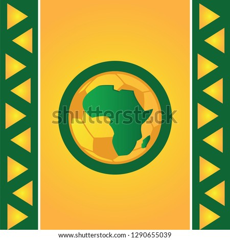 Sports background, green, yellow, vector illustration