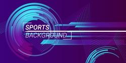 Sports background vector illustration. Trendy vector sports banner.