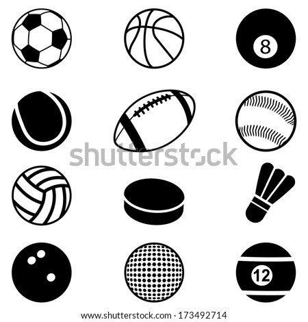 Sports Balls Icons set Vector Illustration