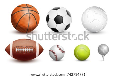 Sports balls. Vector illustration.