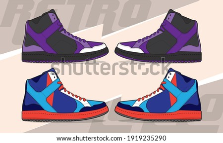 Sports basketball shoes design vector template