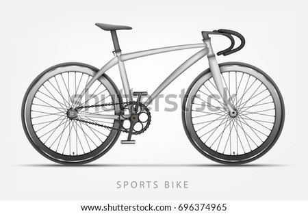 sports bike in white color with