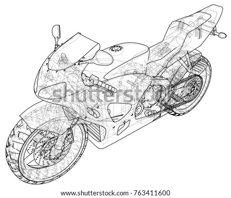 sports bike technical wire