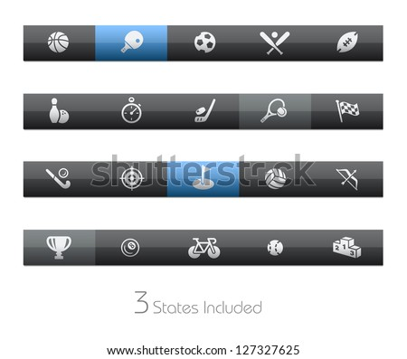Sports // Blackbar Series + It includes 3 buttons states in different layers. +