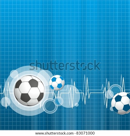 sports blue background with balls