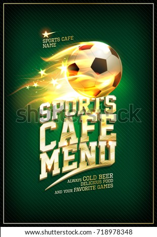 sports cafe menu card concept