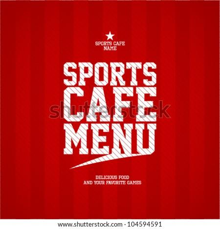 Sports Cafe Menu card design template.