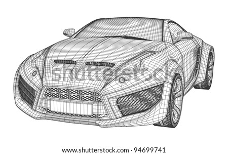 Vector car drawing download free vector art stock graphics images sports car blueprint non branded concept car malvernweather Image collections