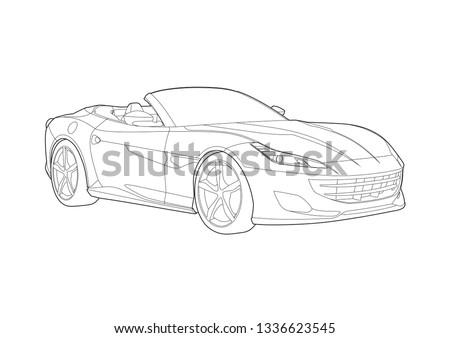 sports car convertible. Ferrari Portofino.