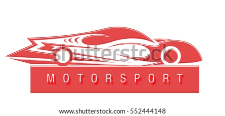 sports car red emblem design