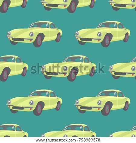 sports car  retro car pattern