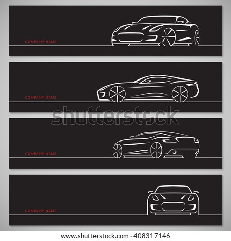 sports car silhouettes