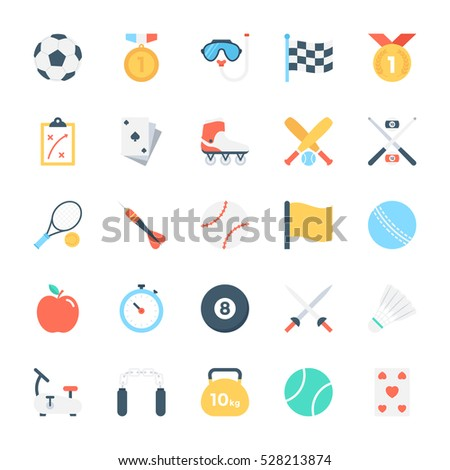 Sports Colored Vector Icons 3