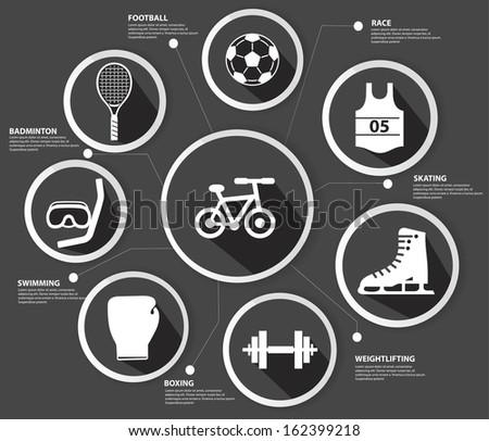 Sports concept,Black version,vector