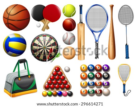 stock-vector-sports-equipment-and-balls-illustration