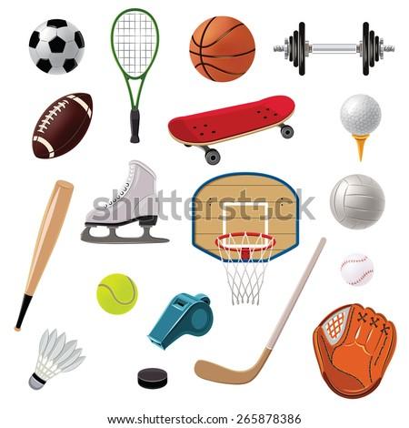 sports equipment decorative
