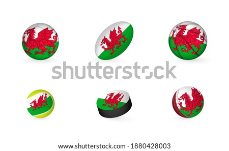 sports equipment with flag of