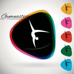Sports Event icon/symbol - Gymnastics. 1 Multicolor and 5 monotone options.