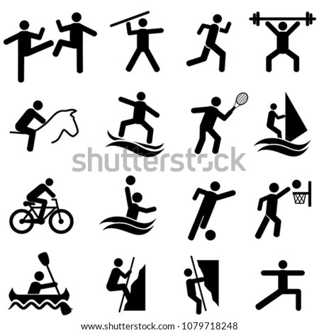 Sports, fitness, activity and exercise web icon set