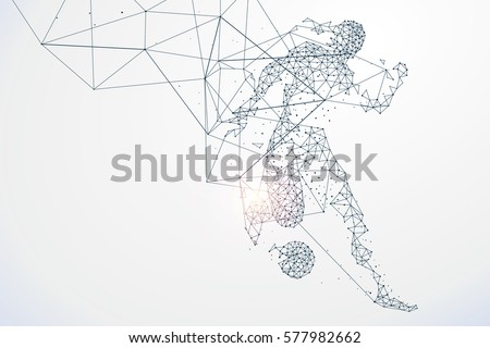 Sports Graphics particles, Network connection turned into, vector illustration. #577982662